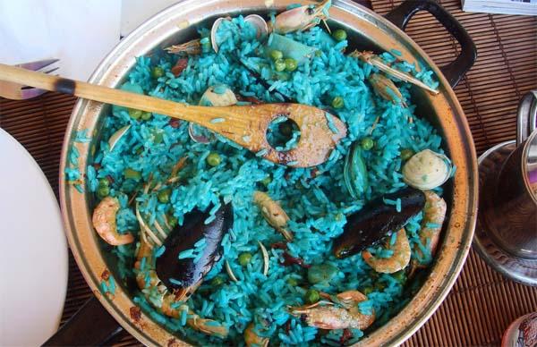 paella azul