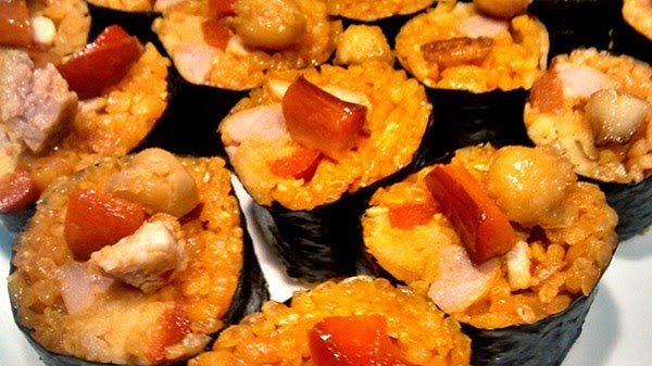 sushi paella