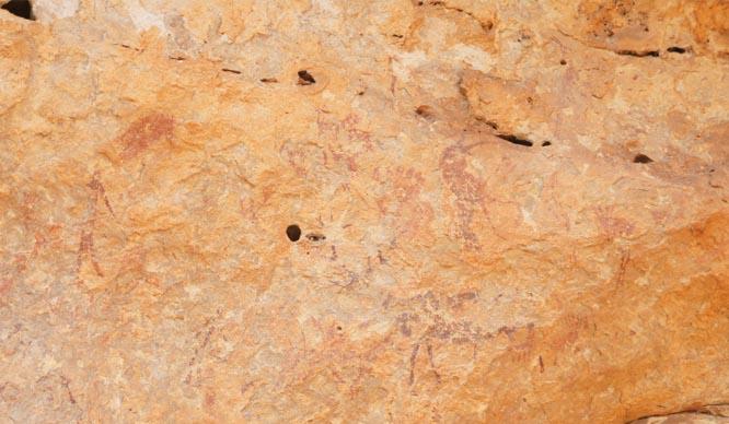 Pinturas rupestres en la Cueva de las Arañas