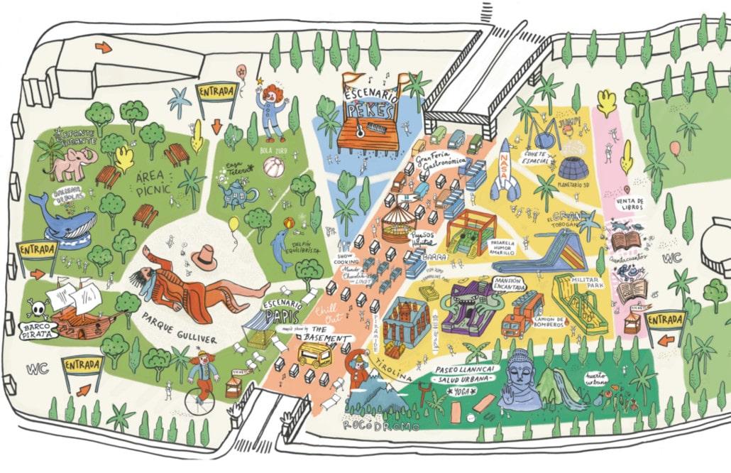 Mapa del recinto
