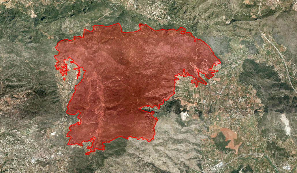 impacto hectareas incendio gandia