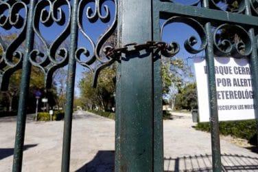 jardines valencia cerrados