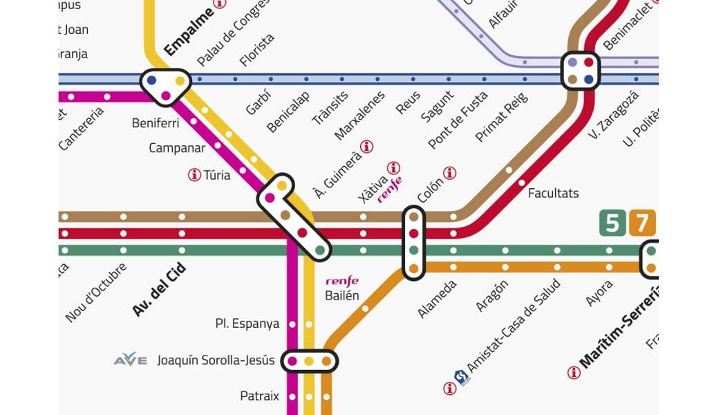 Mapa Metro Valencia 2015.Por Que Hay Tantas Lineas De Metro En Valencia