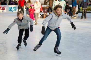 patinaje pista de hielo valencia