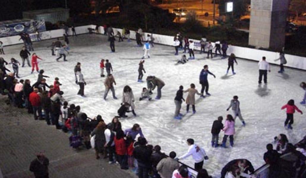 Pista de hielo en la Plaza del Ayuntamiento