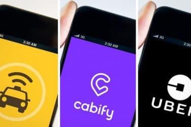 uber cabify taxi en Valencia